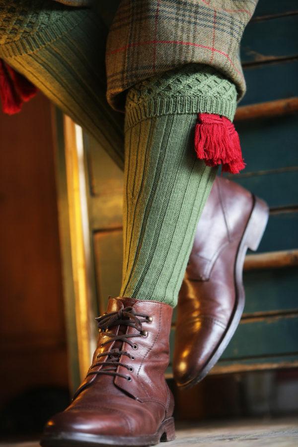 dark green chelsea shooting socks
