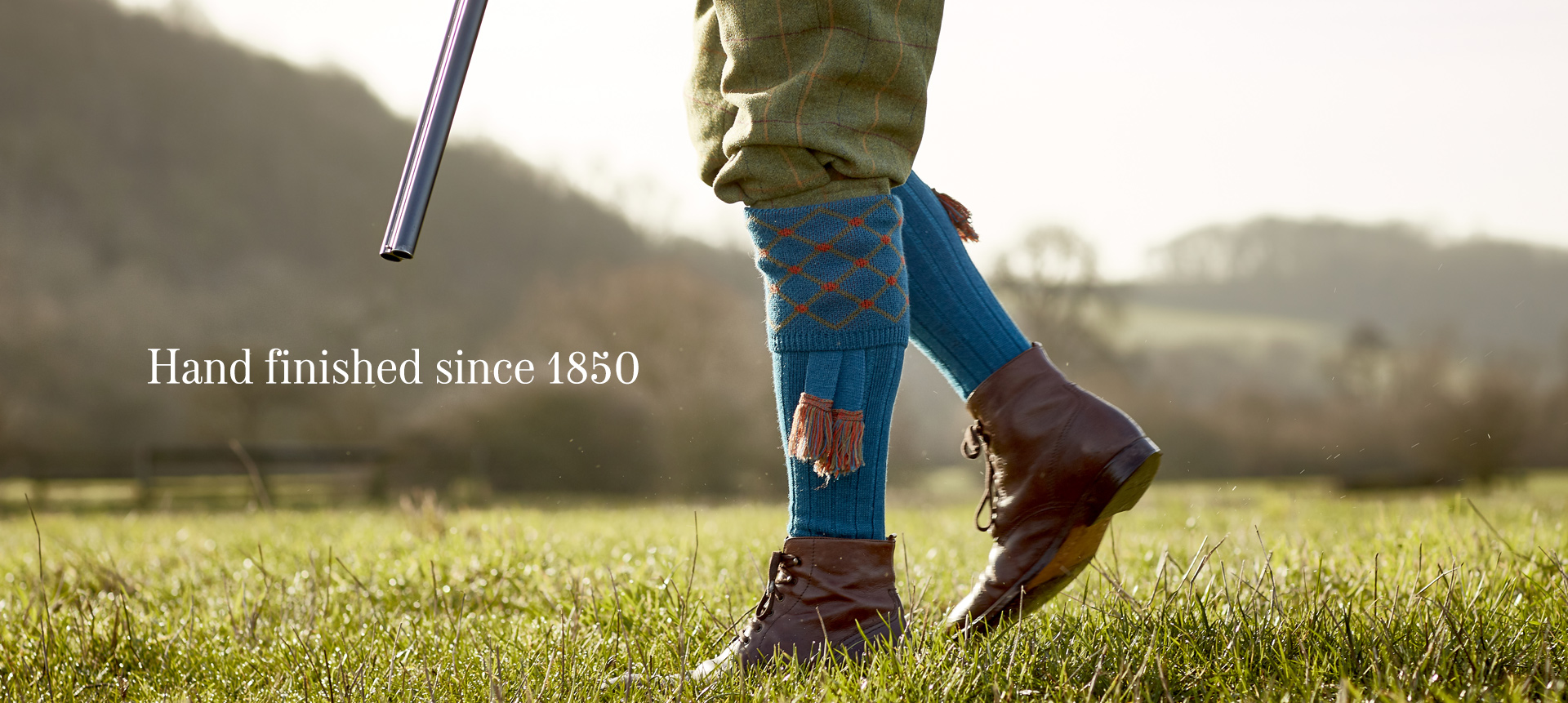 Pennine Shooting Socks have been made using the finest materials and finished by hand with unique designs since 1850. Take a look through our socks and garters