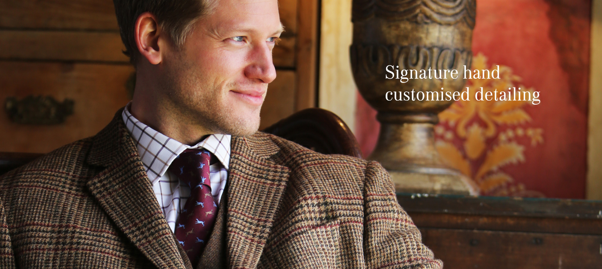 Signature, hand customised detailing on our shooting socks and shooting clothing