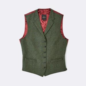 mens bentley waistcoat in sage