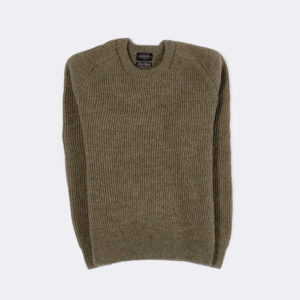 mens hardwick ribbed jumper in dark oatmeal