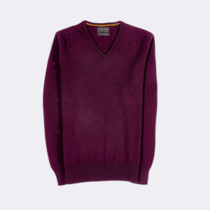 mens jumper in claret purple