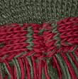 shooting sock colour combo in burgundy red and olive green