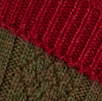 shooting sock colour combo in cherry red and greenacre