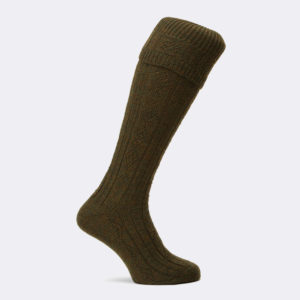 beater shooting sock in green acre