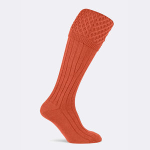 chelsea shooting sock in orange