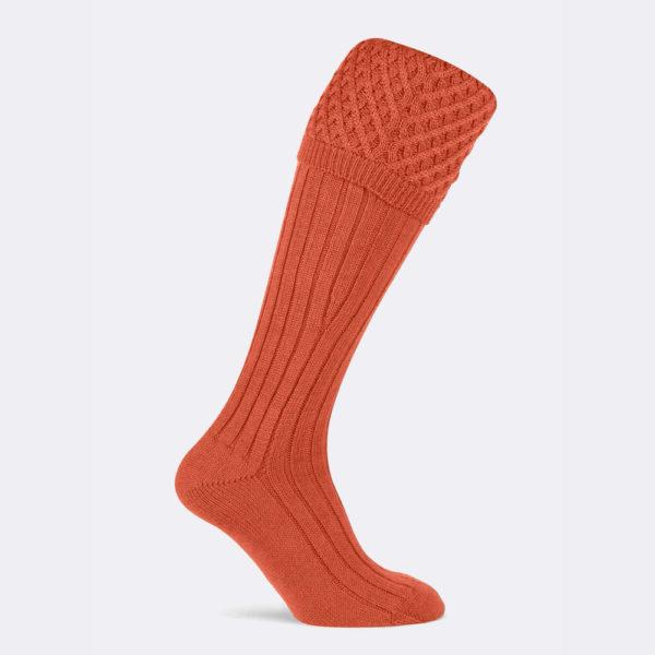 chelsea shooting sock in orange