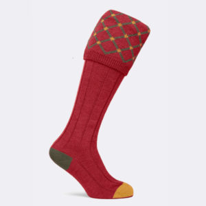 regent shooting sock in chianti red