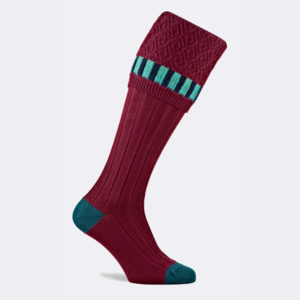 bristol shooting sock in burgundy red