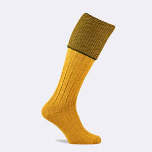 chiltern shooting sock in pollen yellow