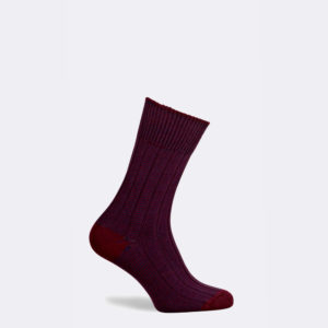 dartmoor boot sock in burgundy red