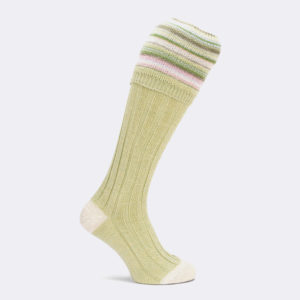 ladies ripon shooting sock in pistachio
