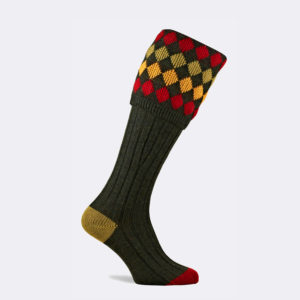 mens kendal shooting sock in hunter green