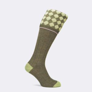 mens kendal shooting sock in pistachio