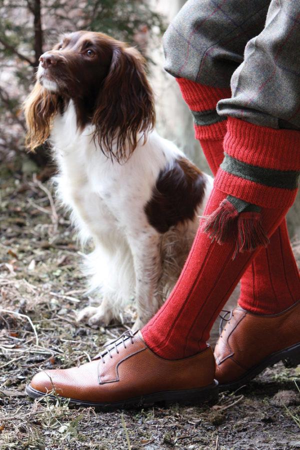 byron rube red shooting socks