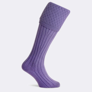 portobello purple shooting sock