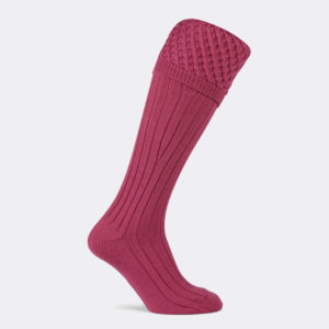 mens chelsea shooting sock in fuschia