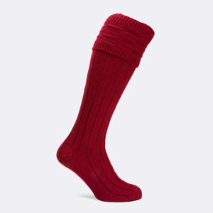 harby shooting socks in cherry red