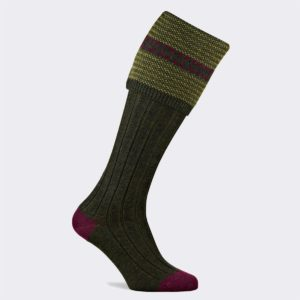 mens cumbrian shooting socks in hunter green