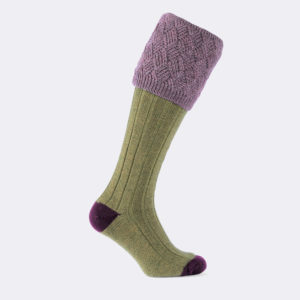 mens coniston shooting socks in old sage