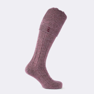 Hardwick shooting sock in mulberry