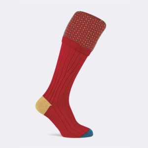 mens trent shooting socks in chianti red